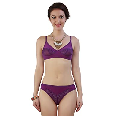 5518f88873 French Beauty Women s Cotton Bra and Panty Set (Pink