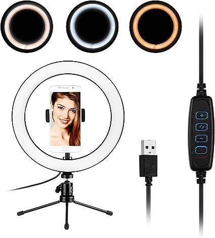 Docooler 25 4 Cm Ringlicht Mit Ständer Und Kamera