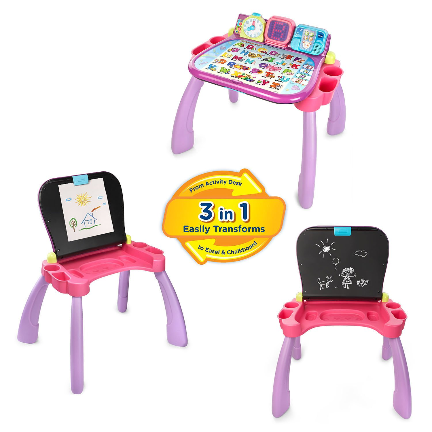 VTech Touch and Learn Activity Desk, Purple by VTech (Image #2)