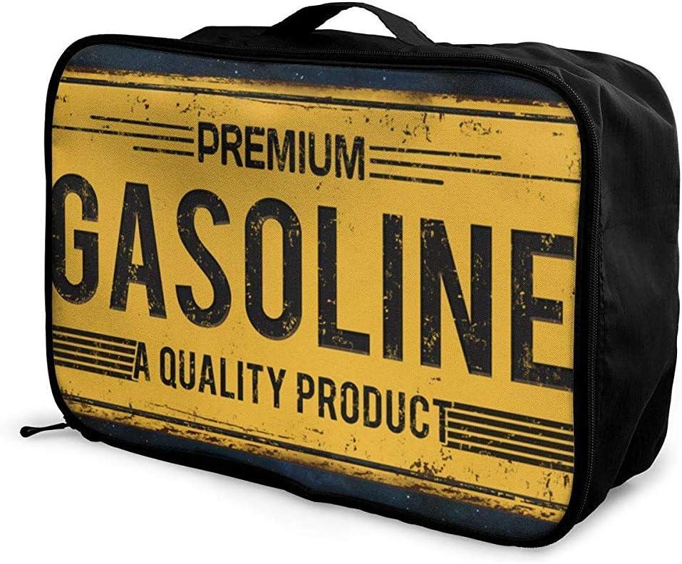 Embalaje Cubos Bolsa de Equipaje de Viaje Recibir Organizador de Almacenamiento Conjunto portátil Grande con Mango Logotipo de Gasolina Vintage