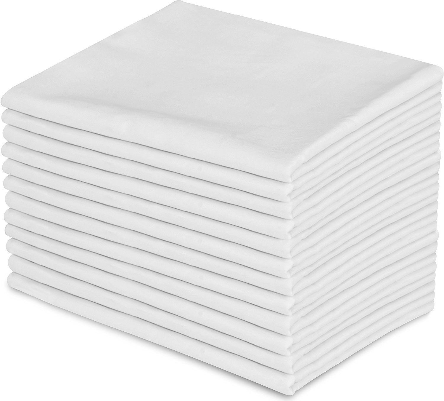 EOM Linens White XL Twin Size Flat Sheets Size 66'' X 115'' T-130 Thread Count (2 Pack) Great for Home, Salons, Spas, Hotel, Institutional & Hospital use.