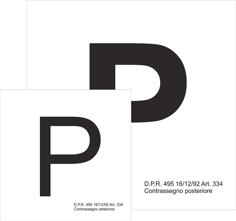 Set di 2 Quattroerre 1570 Contrassegno Adesivo P Principiante