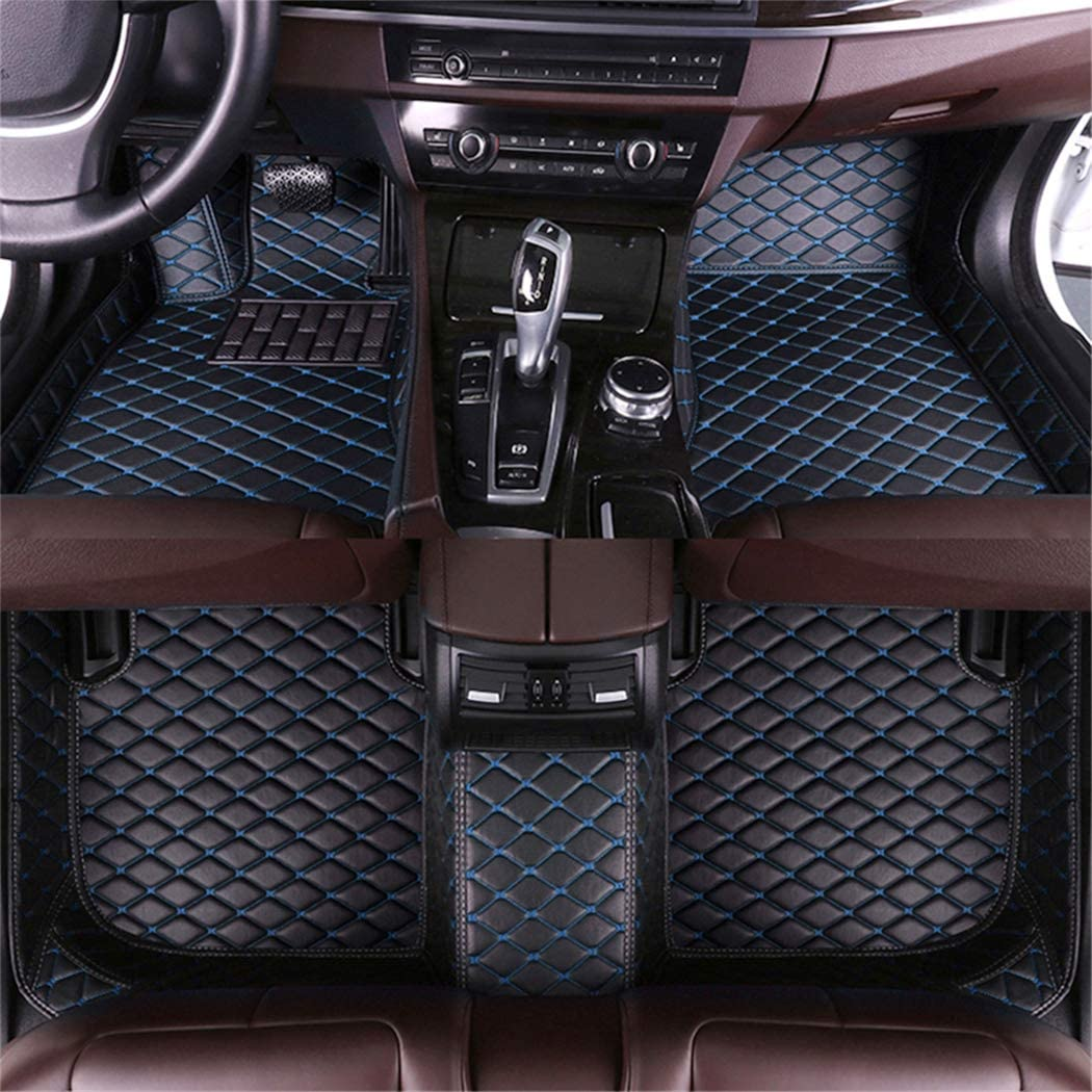 Muchkey Auto Tapetes de Piso Alfombra para Volvo S90 2016-2017 de Cuero Interior Automotriz Alfombrillas Beige