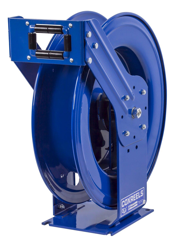 Coxreels TSHL-N-3125 Supreme Duty Spring Rewind Hose Reel for air/water/oil: 3/8'' I.D., 125' hose capacity, less hose, 300 PSI