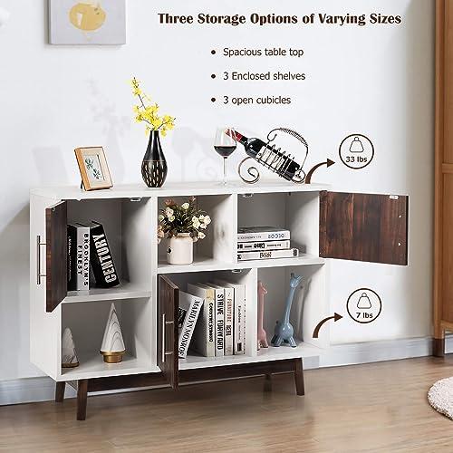 Giantex Sideboard Storage Cabinet W/Storage Compartments