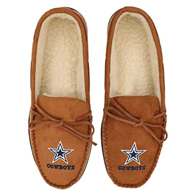 d03157042c6 Image Unavailable. Image not available for. Color  NFL Dallas Cowboys Men s  Moccasin Slipper ...