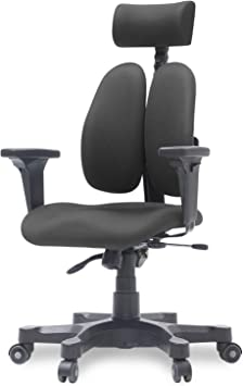 Duorest Gold Ergonomic Office Chair with Twin Backrests