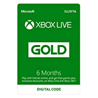 Xbox Live 6 Month Gold Membership [Xbox Live Online Code]