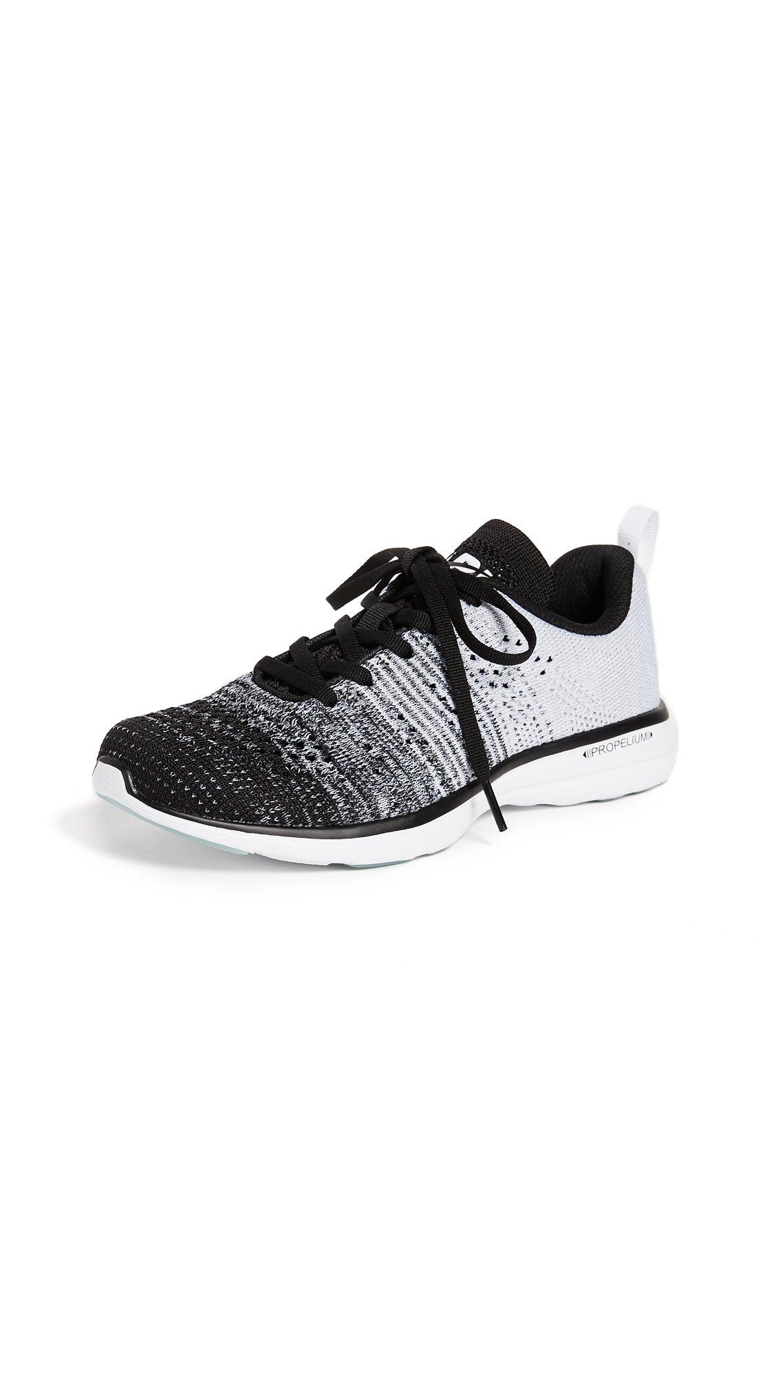 APL: Athletic Propulsion Labs Women's TechLoom Pro Sneakers, Black/Heather Grey/White, 7.5 B(M) US