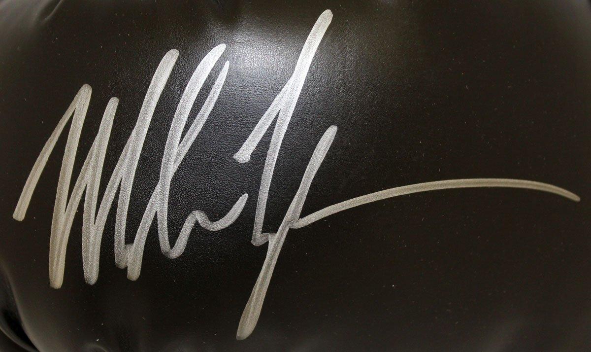 Mike Tyson Autographed Signed Everlast Black Boxing Glove Left Hand JSA Authentic