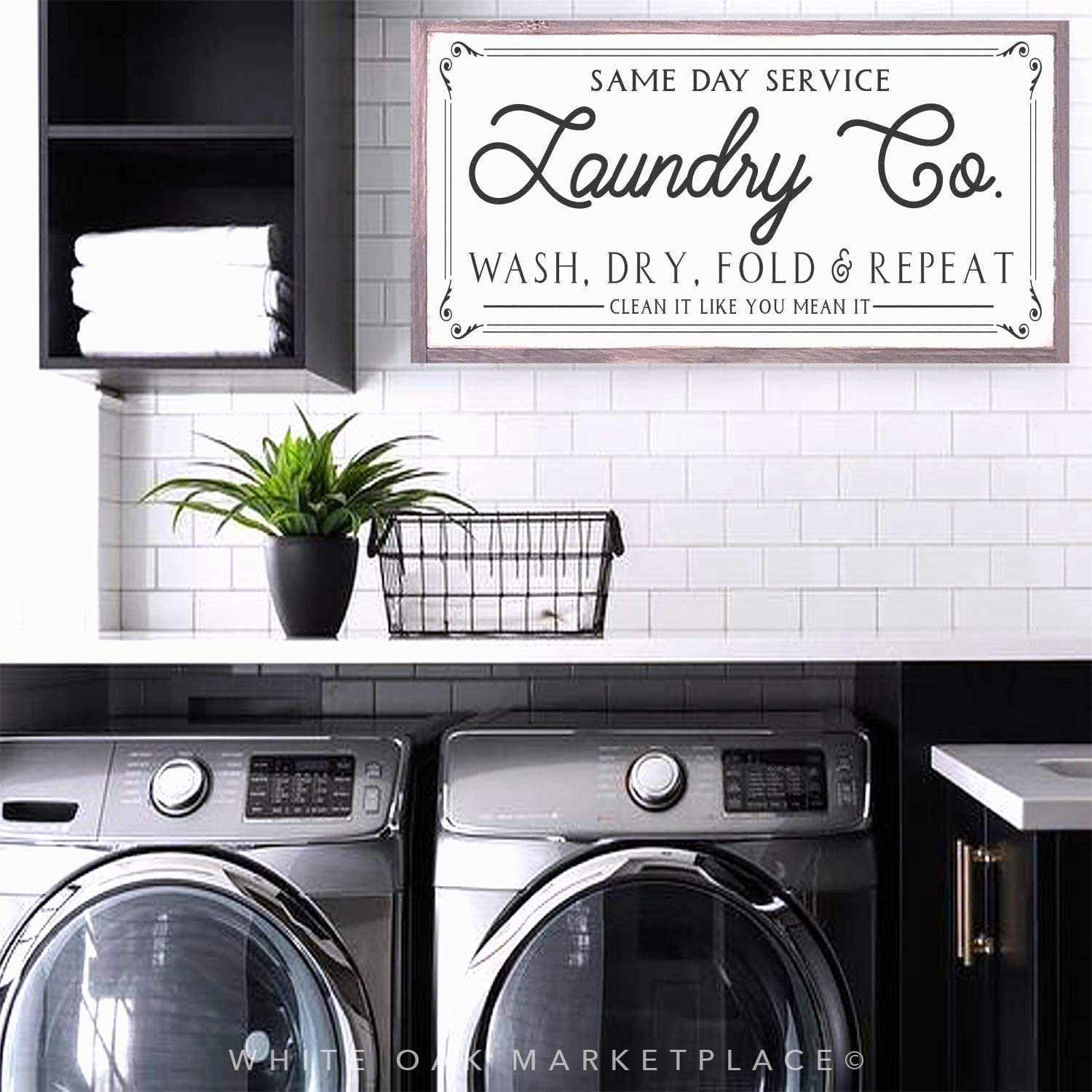 Atwo3242de Laundry Co Farmhouse Sign Laundry Signs Laundry Room Sign Laundry Room Decor Farmhouse Signs Farmhouse Decor Gift Sign Wood Sign Amazon Co Uk Kitchen Home