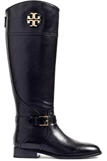 dcc408a77456 Tory Burch Adeline 20MM Tumbled Riding Boot - EXT - Leather Shoes 50922 (7)