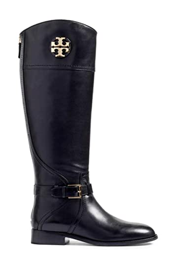 99b144d07f6 Tory Burch Women s Tumbled Leather Adeline 20M Riding Boots Perfect Black  (US  ...