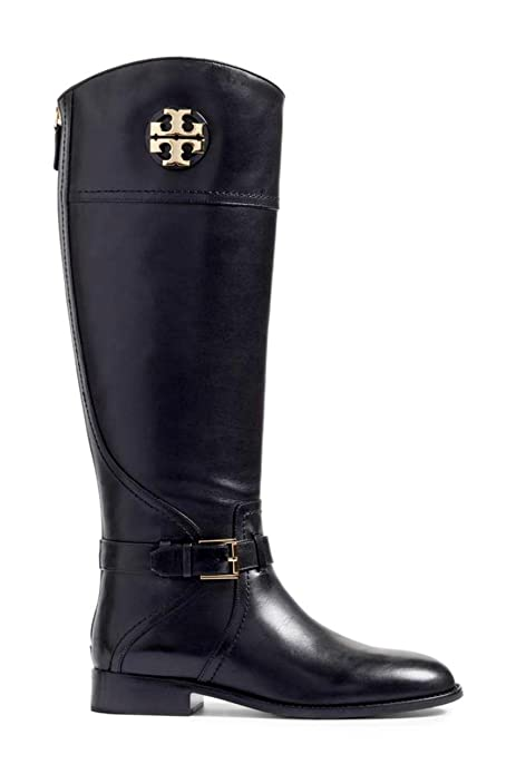 b08cacb1527f0 Tory Burch Women s Tumbled Leather Adeline 20M Riding Boots Perfect Black  (US  ...