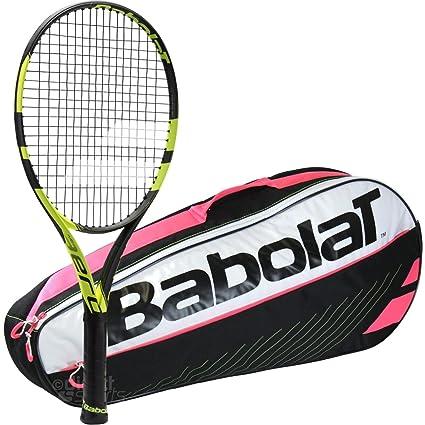 Babolat Pure Aero Junior Raqueta de tenis paquete con un Club 3 unidades bolsa de tenis