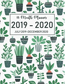 Monthly Calendar 2019 - 2020: 18 Month Academic Planner ...