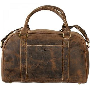 Greenburry Vintage Sac bandouli/ère cuir 35 cm brown