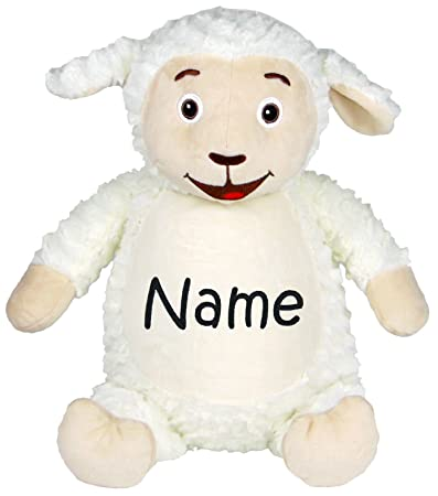 596f662b754 Amazon.com   Personalized Stuffed Fluffy White Lamb with Embroidered Name    Baby