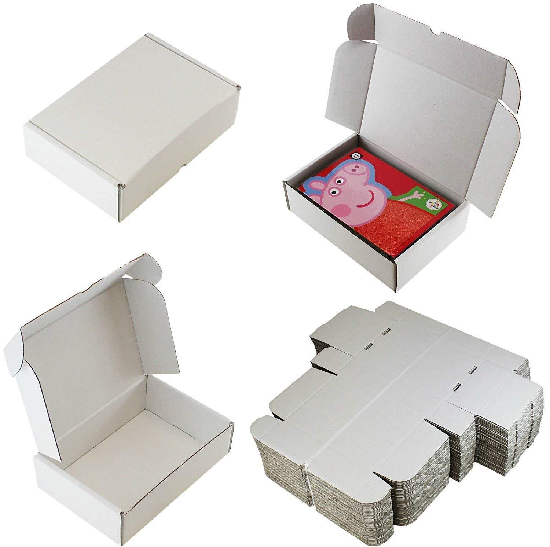 candele ☆ 10 x scatole bianche C5 A5 Spedizione Presentazione ☆ 25 cm x 17,5 cm x 7,5 cm ☆ per: cartoline artigianato foto profumi
