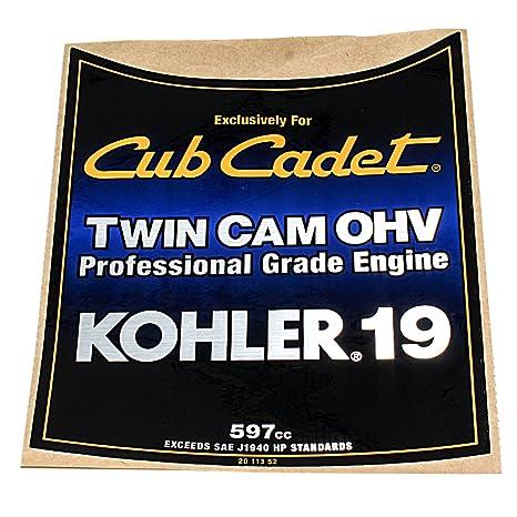 amazon com kohler decal, 19hp engine parts home \u0026 kitchen Kohler Parts Lookup Diagram kohler decal, 19hp engine parts