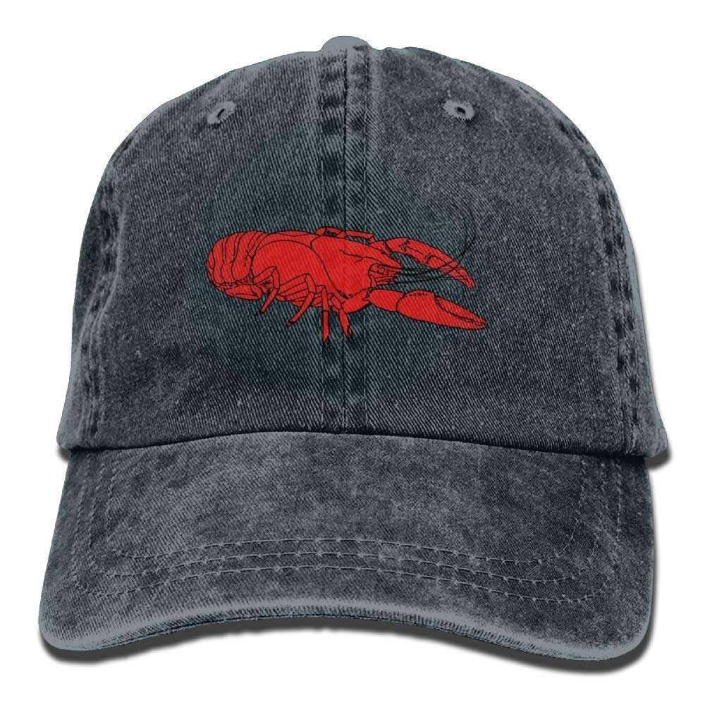 Presock Gorras De Béisbol Hot Red Crawfish Denim Hat Adjustable ...