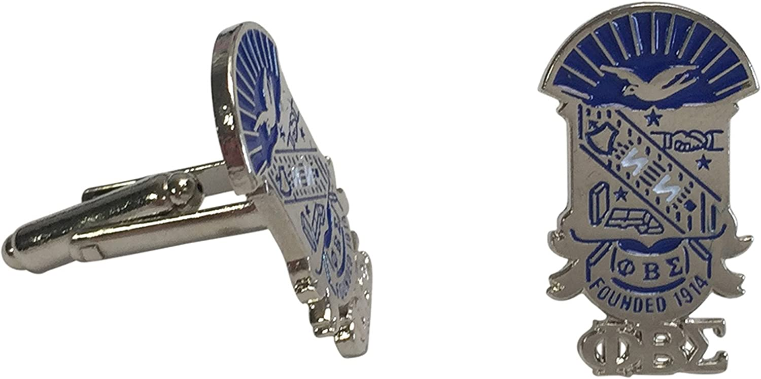 2 Variations Shield Cuff Links For Phi Beta Sigma