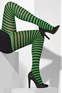 cc313cc95e137 Smiffy's Opaque Hold-Ups Striped - Black/Green: Smiffys: Amazon.co ...