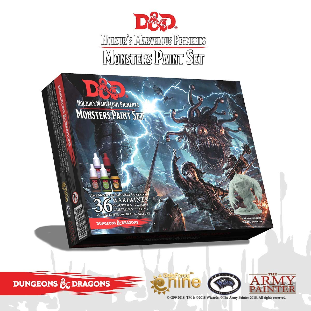 Dungeons and Dragons Official Paint Line Monsters Paint Set by The Army Painter