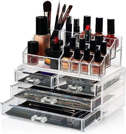 HBF Organizador De Maquillaje Acrílico (4 cajones+16 ...