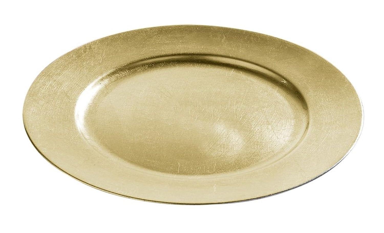 forestfox™ Charger Plates 33cm Decorative Christmas Under Dinner Place Mats Set of 2 Metallic Gold