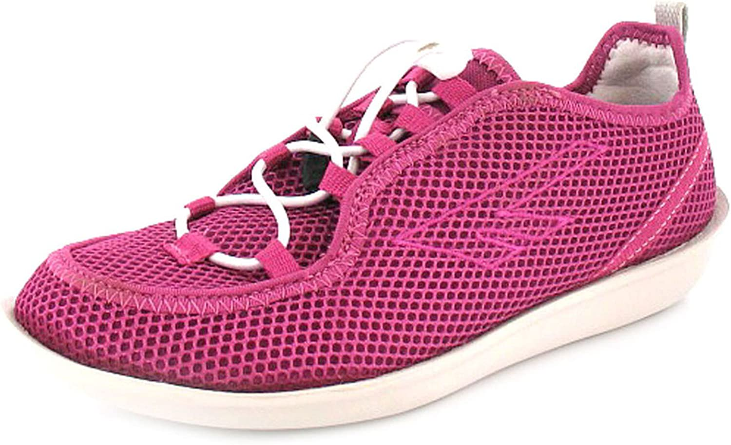 Ladies Pink Trainers New Womens Slip on Lightweight Sports Shoes Sizes 4-8