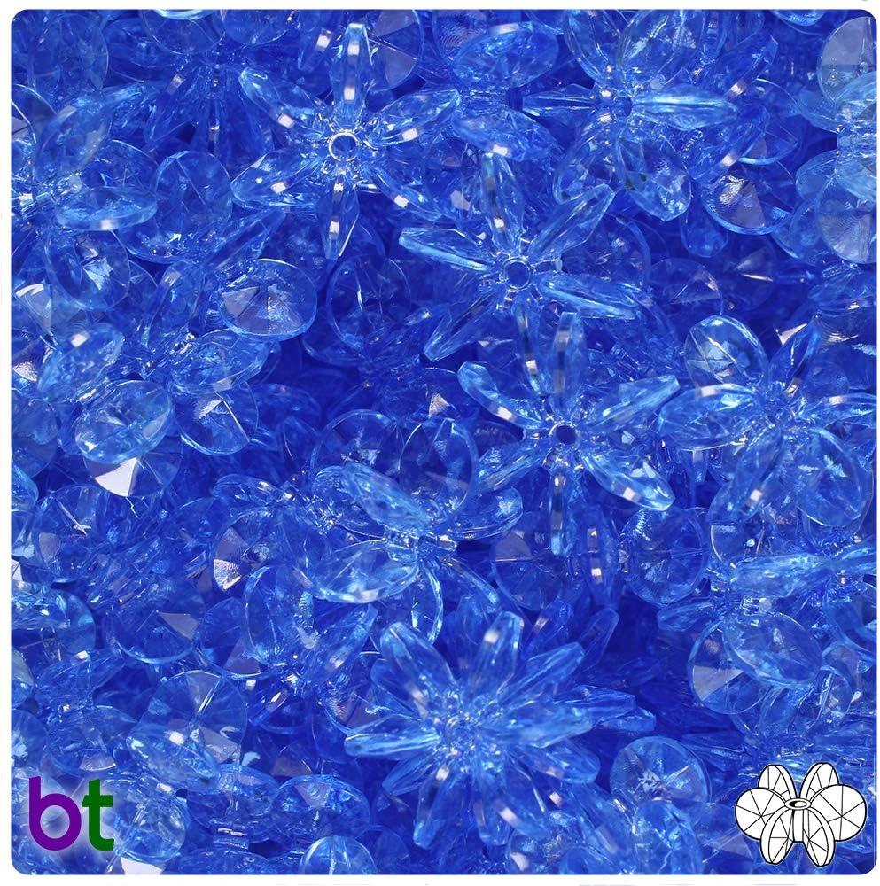 BEADTIN Crystal Transparent 18mm SunBurst Craft Beads 150pc
