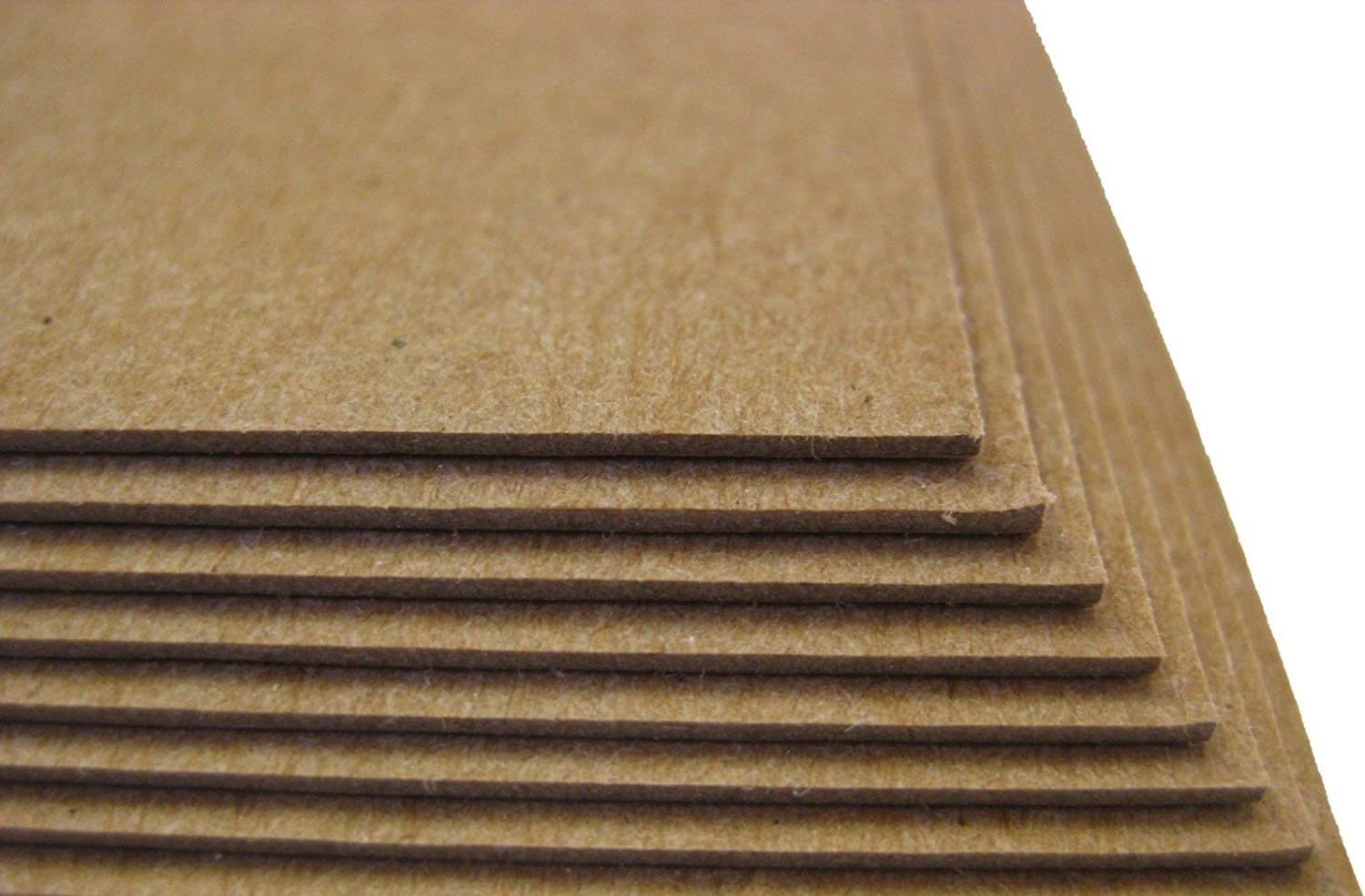 25 Sheets Chipboard 46pt 8.5 X 11 Inches Heavy Weight Letter Size .046 Caliper Thick Cardboard Craft|Packaging Brown Kraft Paper Board Point