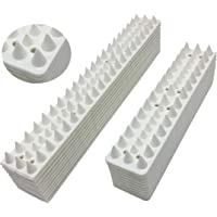 Bird Spikes Defender Bird Prevent Stop Climbing for Walls,Fence and Roof 15.8 Foot (White)