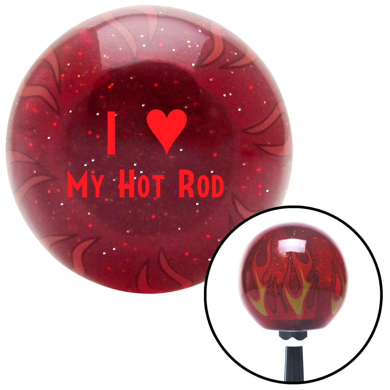 American Shifter 243766 Red Flame Metal Flake Shift Knob with M16 x 1.5 Insert Red I 3 My HOT Rod