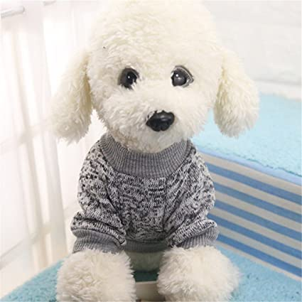 Pet Shirt,Haoricu Hot Sale!8 Color Winter Warm Pet Puppy Sweater For Small Dogs Shirt Clothes