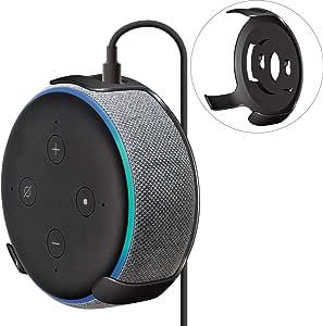ELECOM-Japan Brand- Amazon Eco Dot 3rd Generation Smart Speaker Holder WallMountCase Wall Mount Type Black AIS-AED3H1BK