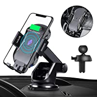 Deals on Sanceon Automatic Clamping Qi Wireless Car Charger Mount