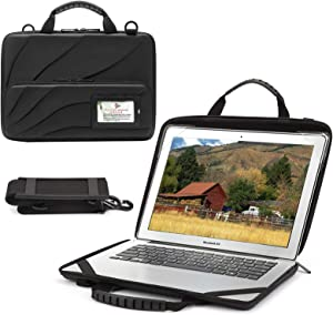 BUG Laptop Bag Compatible with 13-13.3 inch MacBook Pro MacBook Air Notebook Computer Hard Shell Laptop Case for Men Women with Shoulder Strap