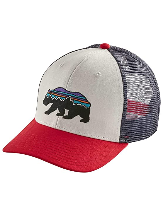 Patagonia Fitz Roy Bear Trucker Hat (Dolomite Blue) at Amazon Mens Clothing store: