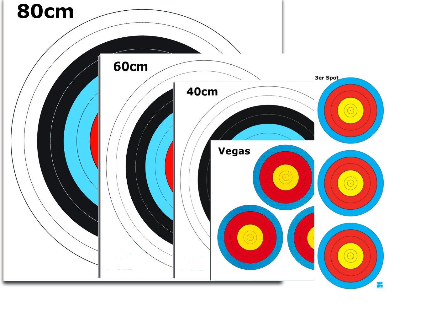 Wa Archery Target Pads Mix of 5Different Sized 4Panel Nails est-bogensport