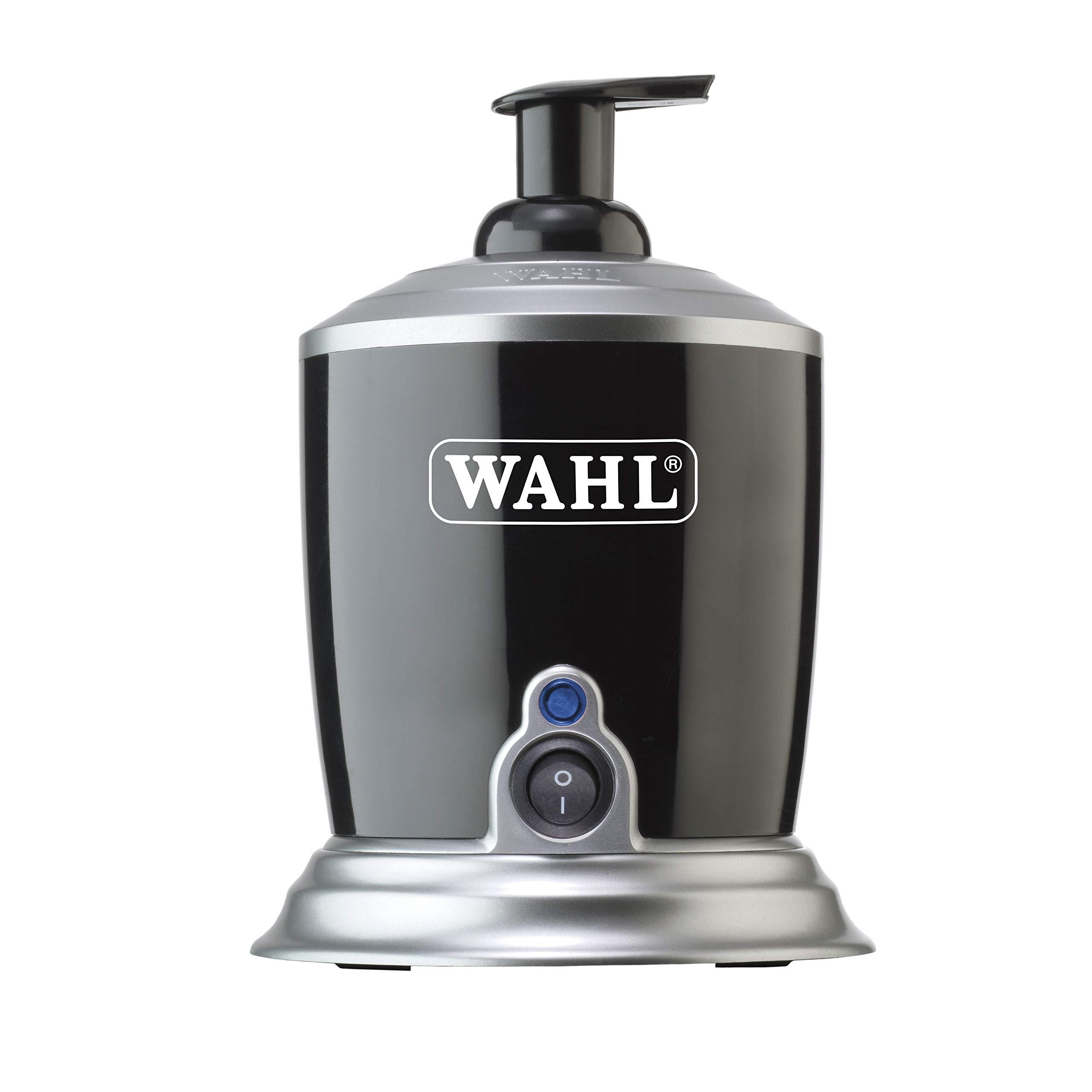 Wahl Professional '19 Hot Lather Machine #68908 - Professional Barber Quality Dispenser with Internal Liquid Pump, Bottle, Additional Bonus Liquid Pump, and 12 oz. Bottle of Pre-Mixed Liquid Lather by Wahl Professional