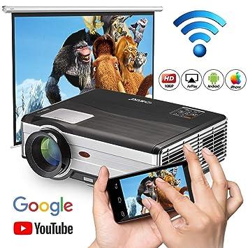 WIKISH Bluetooth Inalámbrico WiFi Proyector Cine en casa ...
