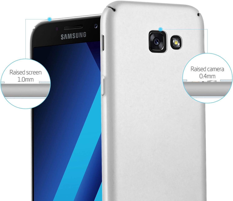 Cadorabo Coque pour Samsung Galaxy A5 2017 en Metallic Rouge Ultra Slim Fin Hard Case Cover Bumper Rayures Housse Protection Rigide en Plastique Dur avec Anti Choc et Anti