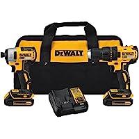 DEWALT DCK277C2 20V MAX Compact Brushless Drill and Impact Combo Kit