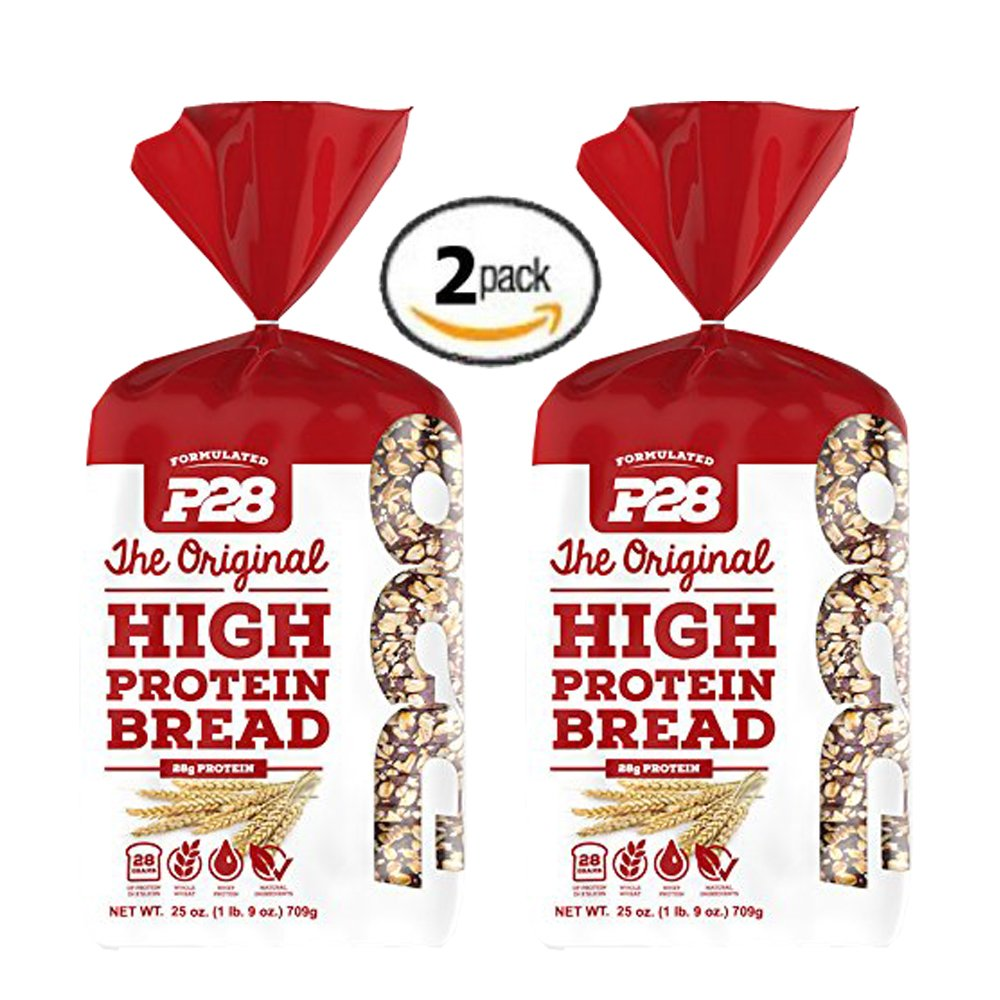 2 Pack Value of P28 High Protein Bread 100% Whole Wheat