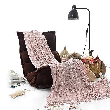 Amazon Battilo Linen Ruffle Soft Fine Acrylic Knit Ripple Awesome Charlotte Ruffled Throw Blanket