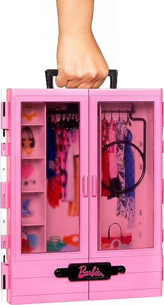 Bambola non Inclusa,... Barbie Armadio Fashionistas Rosa con Accessori