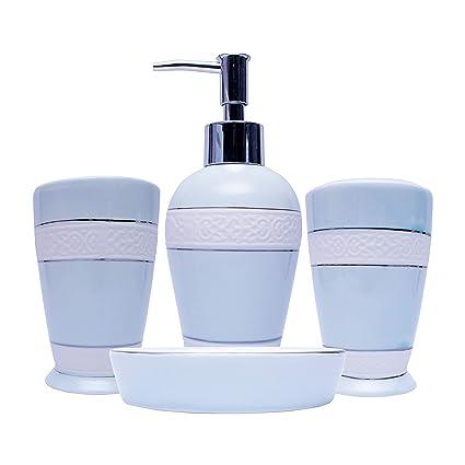 era of dcor ceramic bathroom accessories set soap dispenser toothbrush holder soap dish