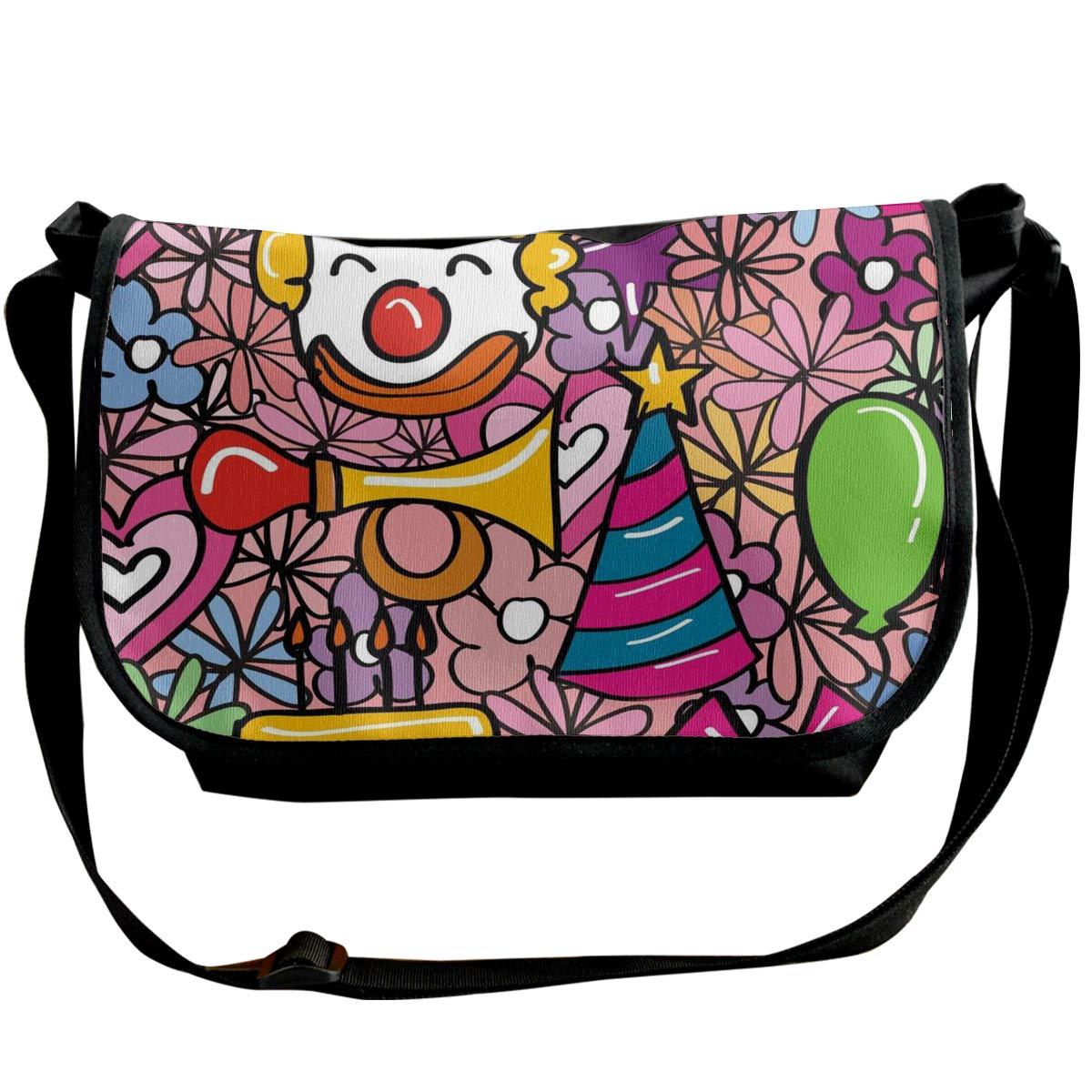 XIANGXIANG SHOP Playground Clown Hand Drawing Illustration Fashion Unisex Casual Popular Outdoor Sling Bag Messenger Bag Shoulder Bag